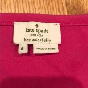 Kate Spade hot pink top size small